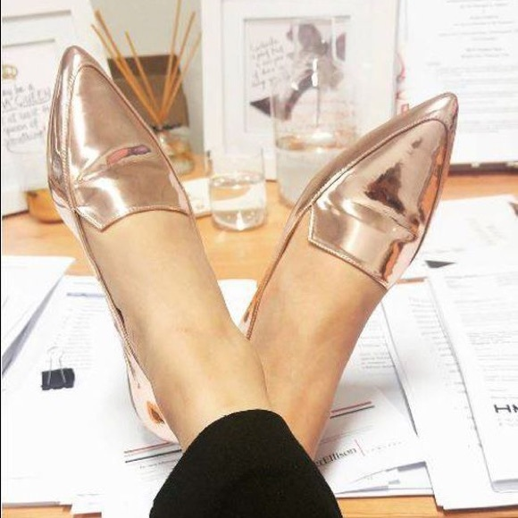 5e726f1c019 NINE WEST Abay Smoking Flats Rose Gold. M 5aeb848c2ae12f71ea277d6d